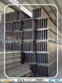 SS400 Hot Rolled Structural Steel H Beam 250 * 125 * 6 * 9 mm