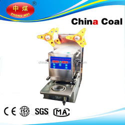 CE approved Automatic cup Sealer machine bubble tea machine Automatic plastic cup sealing machine