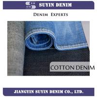 full cotton warp-slub light denim fabric for garments