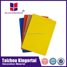 Alucoworld attractive design PE coating laser pet color film ACP different types wall finishes