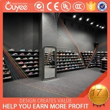 Fashion modern basketball shoes shop with shoes display stand