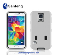 Non stand robot mobile phone case covers for samsung galaxy s5 i9600