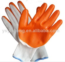 Attension! Gold supplier of nitrile rubber palm coated work safety gloves