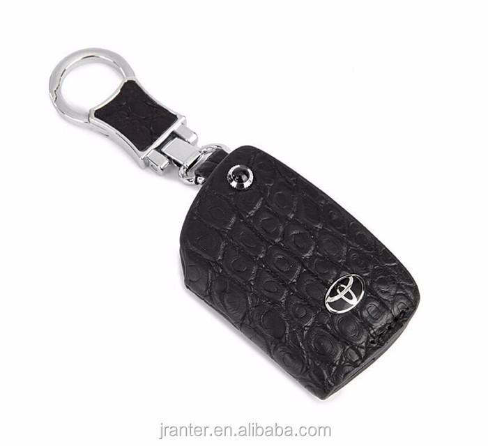 High-end customized genuine crocodile leather car key holder leather car key pouch with zipper_7