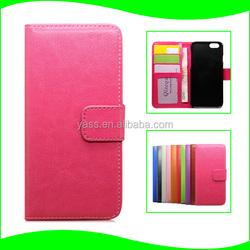 Wallet PU Leather Case Cover Pouch with Card Slot Photo Frame For iPhone 6 , For iPhone 6 Photo Frame Case