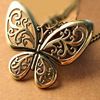 Vintage Butterfly Necklace Jewelry Gold Plated Accessories For Woman(SWTAA1866)