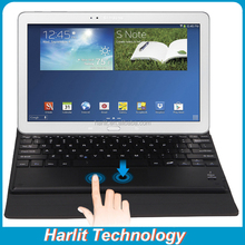 Folding Leather Bluetooth Keyboard With Touchpad Cover Wireless Tablet Keyboard with Touchpad For Galaxy Note 10.1