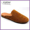 Top quality men shoes leather slippers mens suede slipper