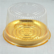 NO.1 shenzhen factory of clear plastic round cake box