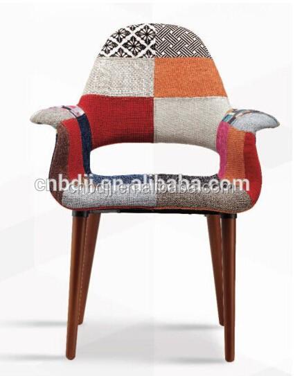 Multi couleurs patchwork de tissu chaise en plastique - Chaise tissu couleur ...