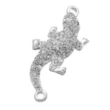High quilaty cheap price alloy lizard shape jewelry accessorie and diamond lady jewelry