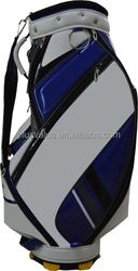 wholesale high quality custom handmade PU leather golf gun bag