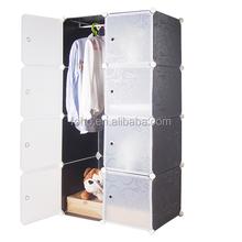 8 cubes black modern plastic home city wardrobe for bedroom (FH-AL0027-8)