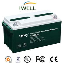 Professional Manufacturing High Quality 12V 65Ah Lead Acid Maintenance Free Car Battery