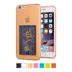 Ultra Thin Transparent Cell Phone Case With Bank Card Holder