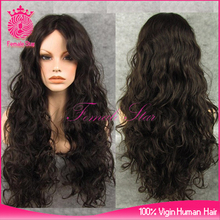 hot aliexpress indian hair curly wig lace front, remy human hair lace wigs miami