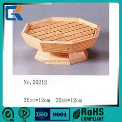 Cheap special octagonal white wooden sushi container with food grade material