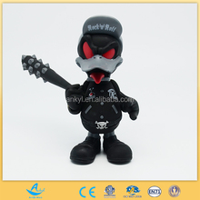 custom plastic toy rock and roll duck giant duck toy plastic duck toy