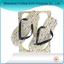 Rectangle sublimation printed promotion wholesale slippers lady