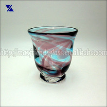 Diseño de lujo huracán vidrio titular de la vela