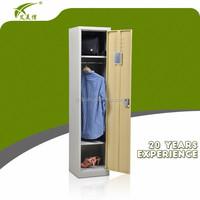 Modern design 1 door bedroom steel cabinet wardrobe