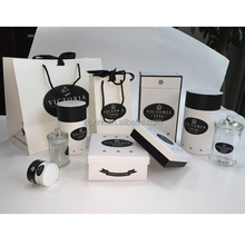 black color paper packaging for cosmetics set