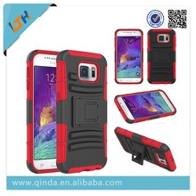 New Arrival! Hot Selling 2015 Newest Combo Roboto Cover Case For Samsung Galaxy S6 G9200 With Card Slot And Stand