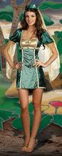 Disfraz de Halloween de Seductor Indian Dancer Mujeres Verde Rop
