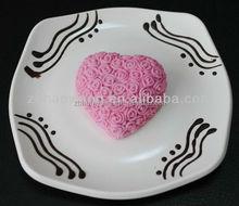 R1003 zibo nicole silicone rubber rose heart soap molds silicone nicole soap mold heart soap mold