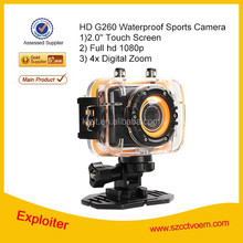 "Full HD 1080P 2.0"" touch screen Sport camera G260 Outdoor Waterproof Portable Action Camera Cam Mini DV"
