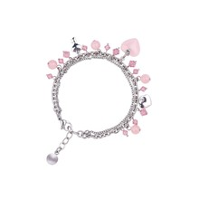 2015 Fashion Charm Rose Quartz Lucky Small Beads Bracelet For Women