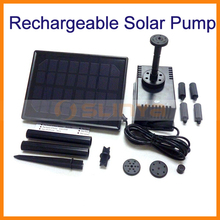 Built-in 1400mah Battery Solar Power Pump Kit Water Pump for Garden Pond Fountain Pool