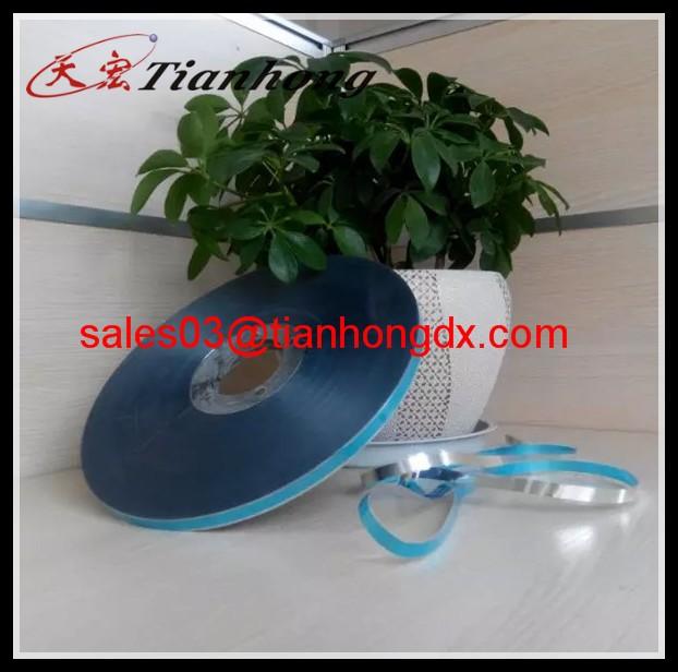 blue color free edge aluminium film package material spool free edge AL PET mylar  for good insulation materials
