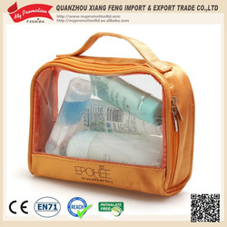 2014 Women's zipper puller makeup case with clear window