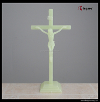 Holy Jesus standing crucifix catholic religious cross with stand juses on cross