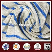 new color white blue striped fabric from China gold knit fabric supplier