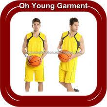 100% Polyester Dry Fit Wicking Short Sleeve V-neck Basketball Sport Wear/T Shirt