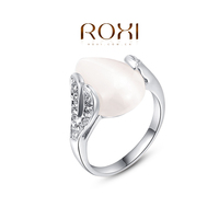 ROXI Fashion Jewelry Waterdrop shaped CZ Diamond Ring with Opals Factory wholesale