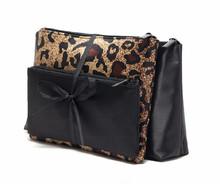 Italian Tide brand leopard waterproof cosmetic bag of three-piece