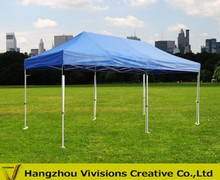 Folding outdoor tent for advertising display