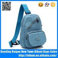 China nylon chest bag single shoulder cute cross body bag