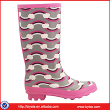 Girl Half Boot Rubber Rain Boots For Ladies