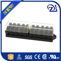 Car Audio Fuse Box 1 In 6 Out Holder Block AMP 12V Black