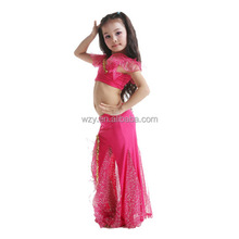 2pcs Milk Silk Belly dance Dress latin teen girl dress costumes