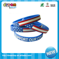 American style fashion silicone bracelets hand
