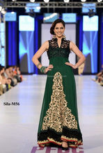 Elegant dark green maxi style summer and spring party wear BE-M56