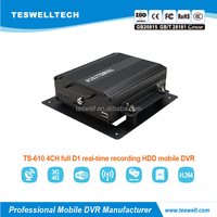 Teswell 4CH G-Sensor 3G WIFI GPS 2.5 inch HDD for School Bus /Taxi/Police car CCTV Mobile DVR