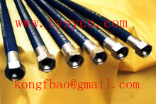 SAE100R2AT steel wire braid corrugated hydraulic rubber hose