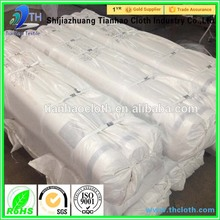 polyester cotton 50/50 fabric/plain white cotton bed sheet fabric in roll