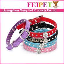 Factory custom puppy pet collars flower charms pet wear collars